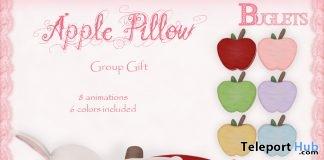 Apple Pillow September 2017 Group Gift by Buglets - Teleport Hub - teleporthub.com
