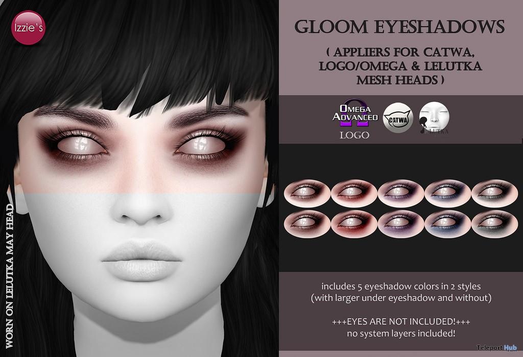 Gloom Eyeshadows Appliers Gift by Izzie's - Teleport Hub - teleporthub.com