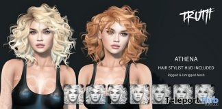 Athena Hair FatPack With Style HUD September 2017 Group Gift by TRUTH HAIR - Teleport Hub - teleporthub.com
