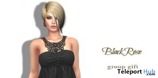 Lace Top Black September 2017 Group Gift by BlackRose - Teleport Hub - teleporthub.com