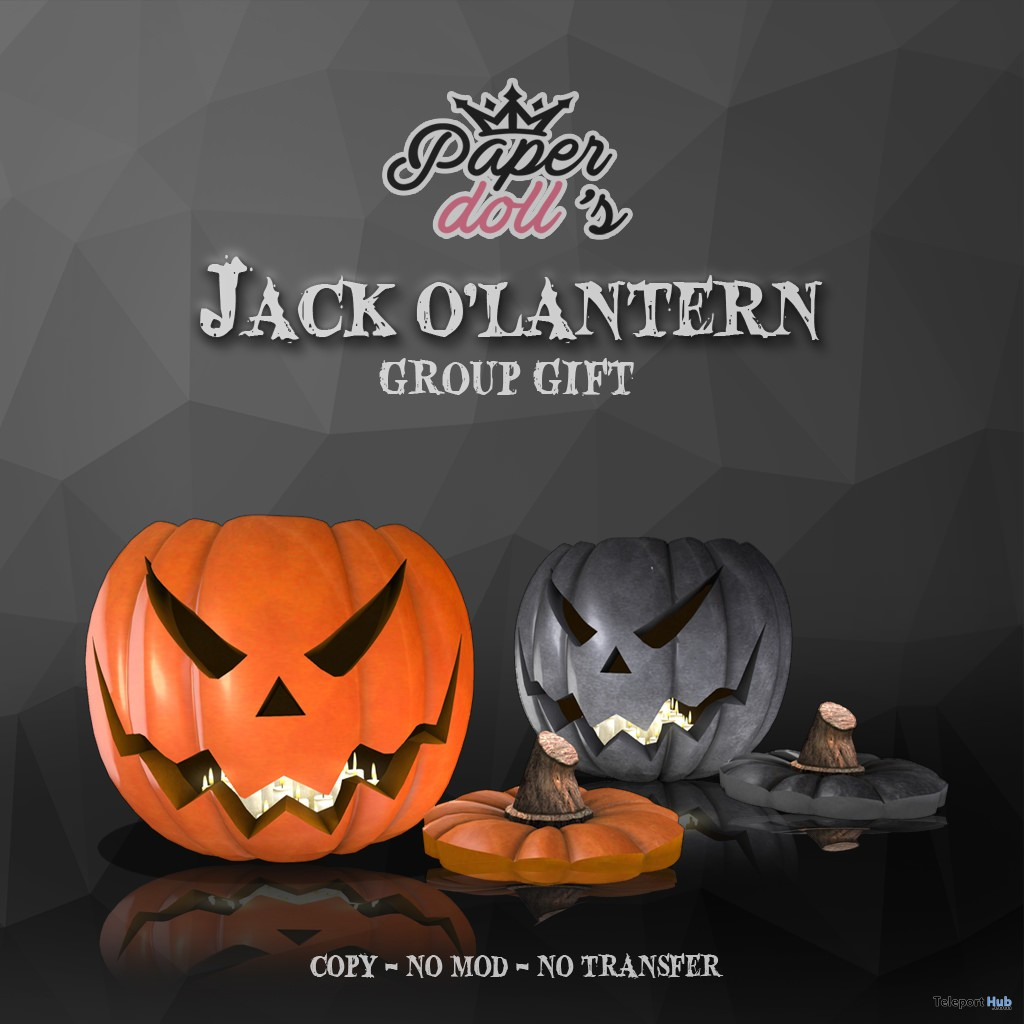 Jack O'Lantern September 2017 Group Gift by Paperdoll's - Teleport Hub - teleporthub.com