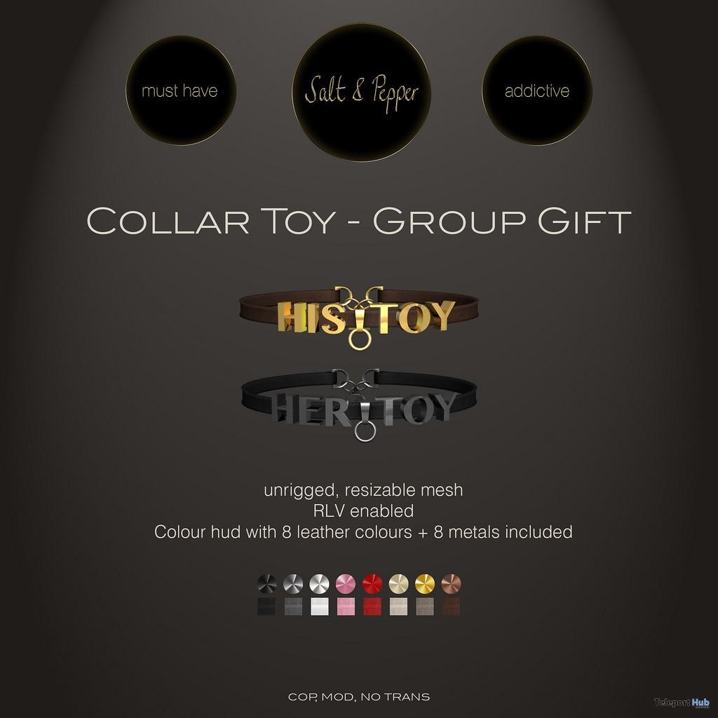 Collar Toy September 2017 Group Gift by Salt & Pepper - Teleport Hub - teleporthub.com