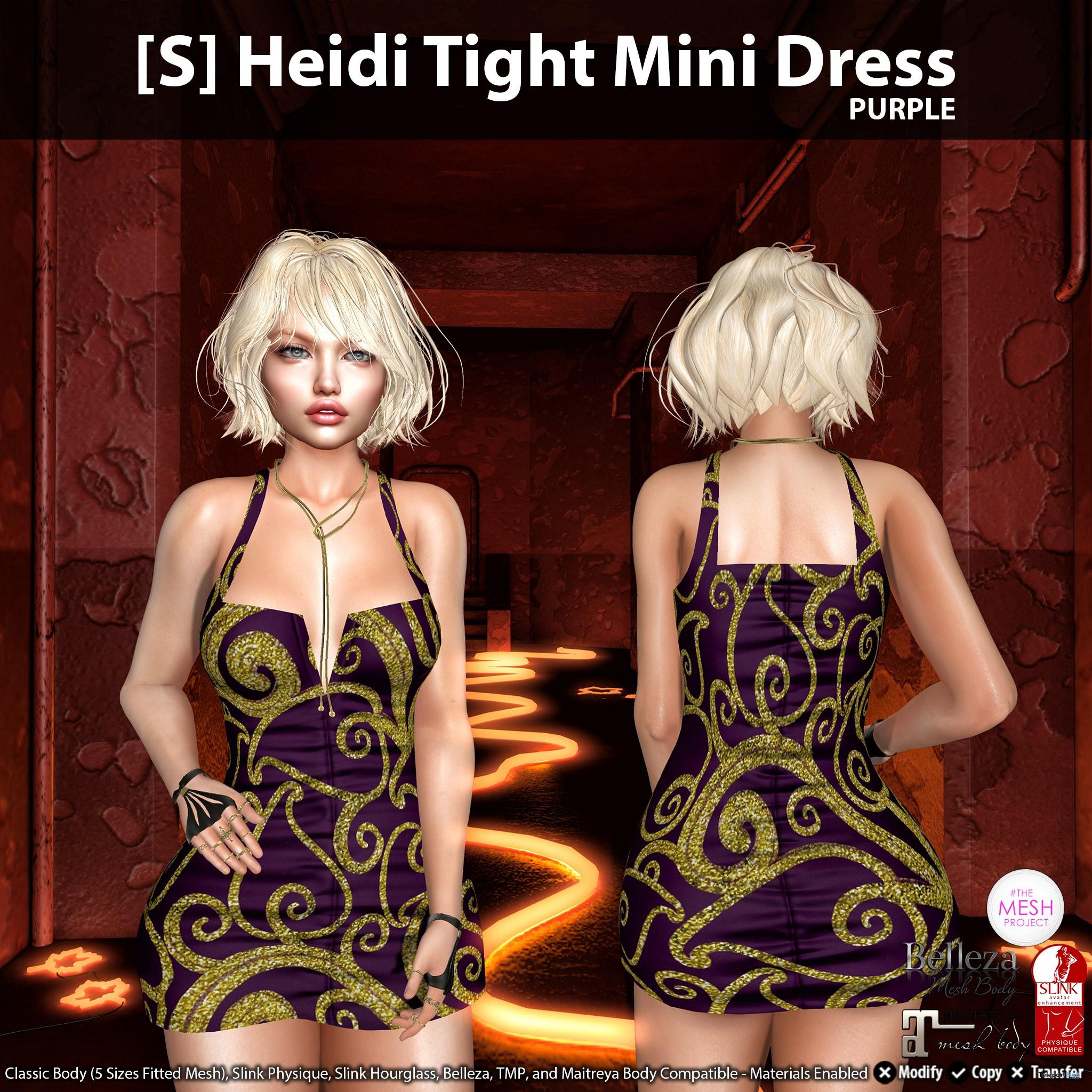 New Release: [S] Heidi Tight Mini Dress by [satus Inc] - Teleport Hub - teleporthub.com