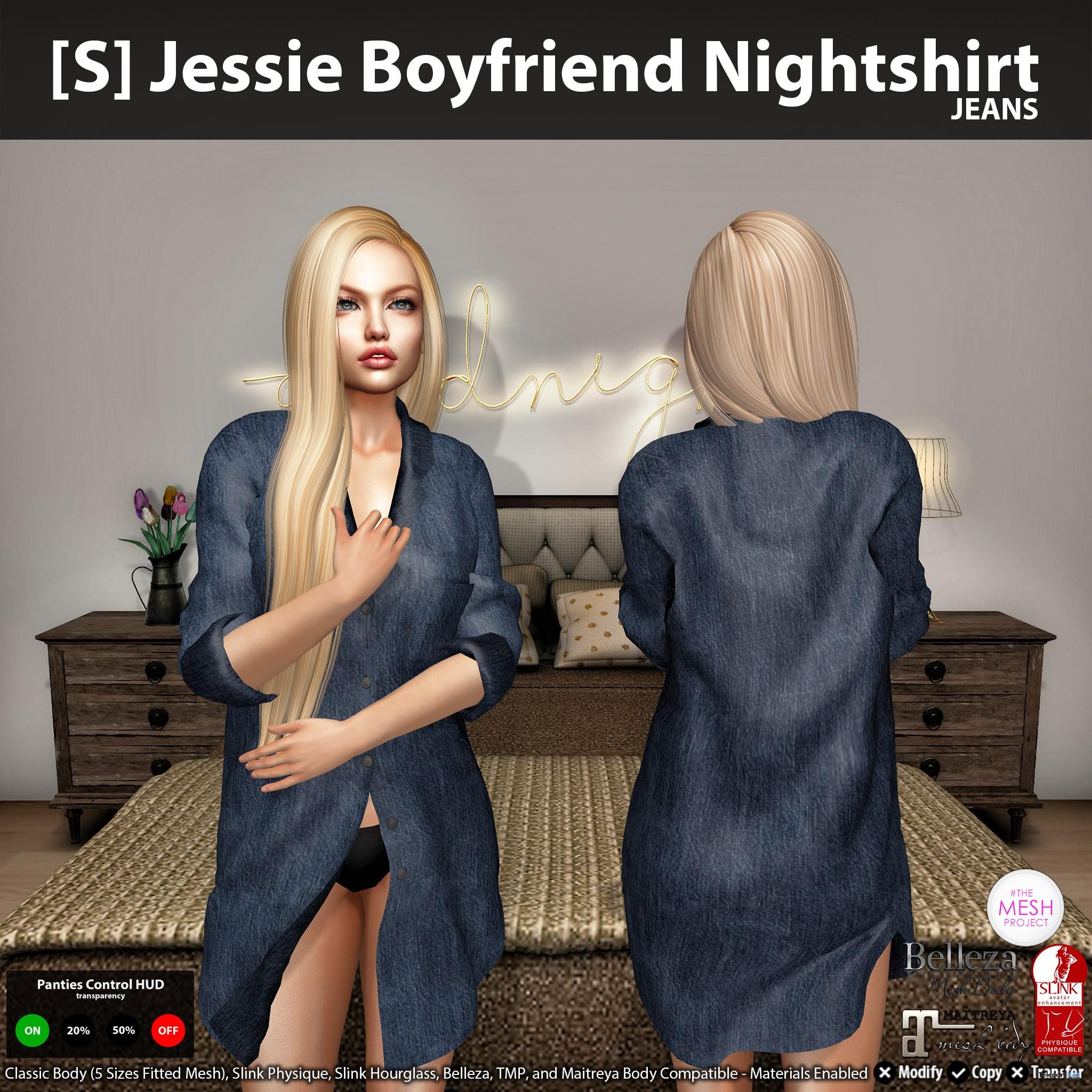 New Release: [S] Jessie Boyfriend Nightshirt by [satus Inc] - Teleport Hub - teleporthub.com