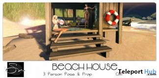 Beach House & His Wordly Pleasures Pose September 2017 Group Gift by Something New - Teleport Hub - teleporthub.com