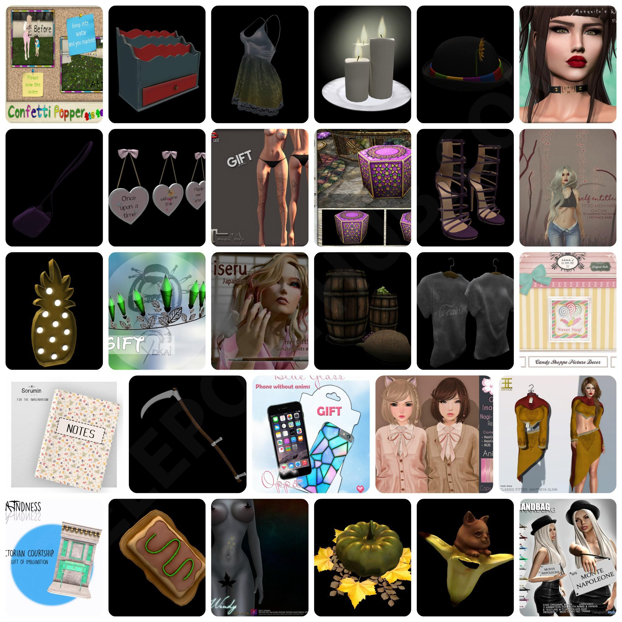 Several Group Gifts At The Imaginarium September 2017 Round by Various Designers - Teleport Hub - teleporthub.com