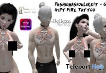 Fire Chest Tattoo Unisex Group Gift by FashionAsYouLikeIt - Teleport Hub - teleporthub.com