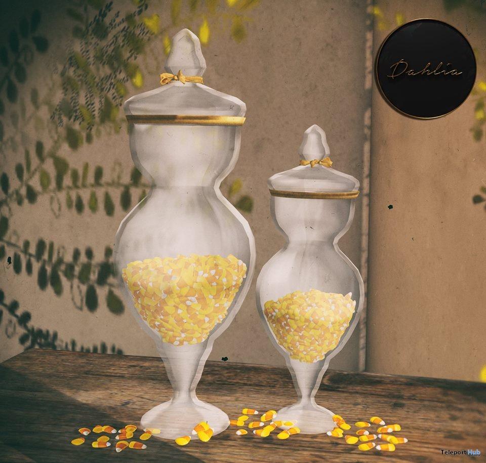 Candy Corn Jars October 2017 Group Gift by Dahlia - Teleport Hub - teleporthub.com