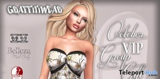 Spider Pattern Dress October 2017 Group Gift by Graffitiwear - Teleport Hub - teleporthub.com