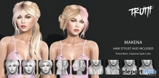 Makena Hair FatPack With Style HUD October 2017 Group Gift by TRUTH HAIR - Teleport Hub - teleporthub.com