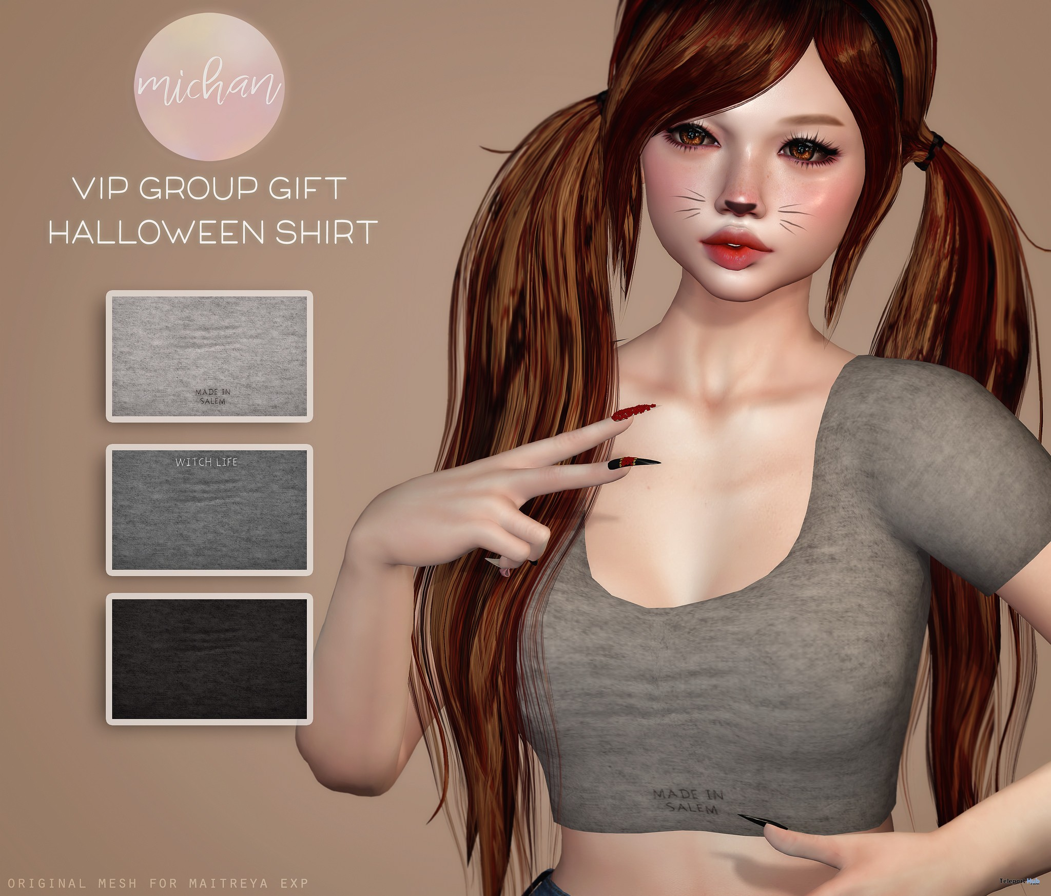 Halloween Top October 2017 Group Gift by MICHAN- Teleport Hub - teleporthub.com