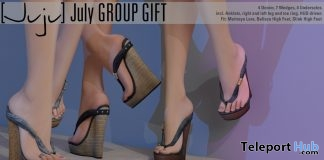 July Wedges October 2017 Group Gift by Juju - Teleport Hub - teleporthub.com