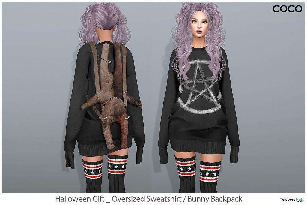Oversized Sweatshirt & Bunny Backpack Group Gift by COCO Designs - Teleport Hub - teleporthub.com