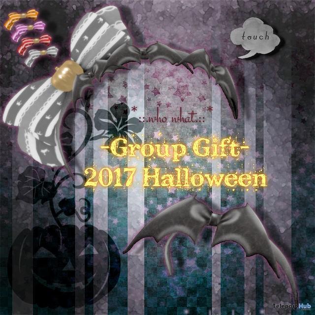 Halloween & Bat Headband October 2017 Group Gift by who what - Teleport Hub - teleporthub.com