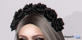 Black Rose Headband Halloween 2017 Group Gift by Opale - Teleport Hub - teleporthub.com