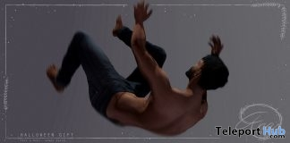 Falling Pose Gift Hipster Event October 2017 by Anna Poses - Teleport Hub - teleporthub.com