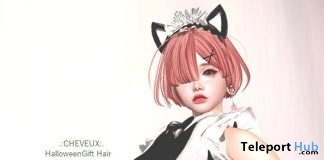 Halloween Hair Pink October 2017 Group Gift by CHEVEUX - Teleport Hub - teleporthub.com