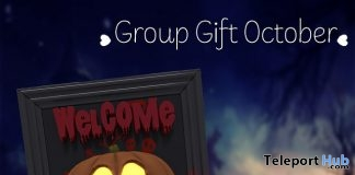 Pumpkin Door Hanger October 2017 Group Gift by Your Dreams - Teleport Hub - teleporthub.com