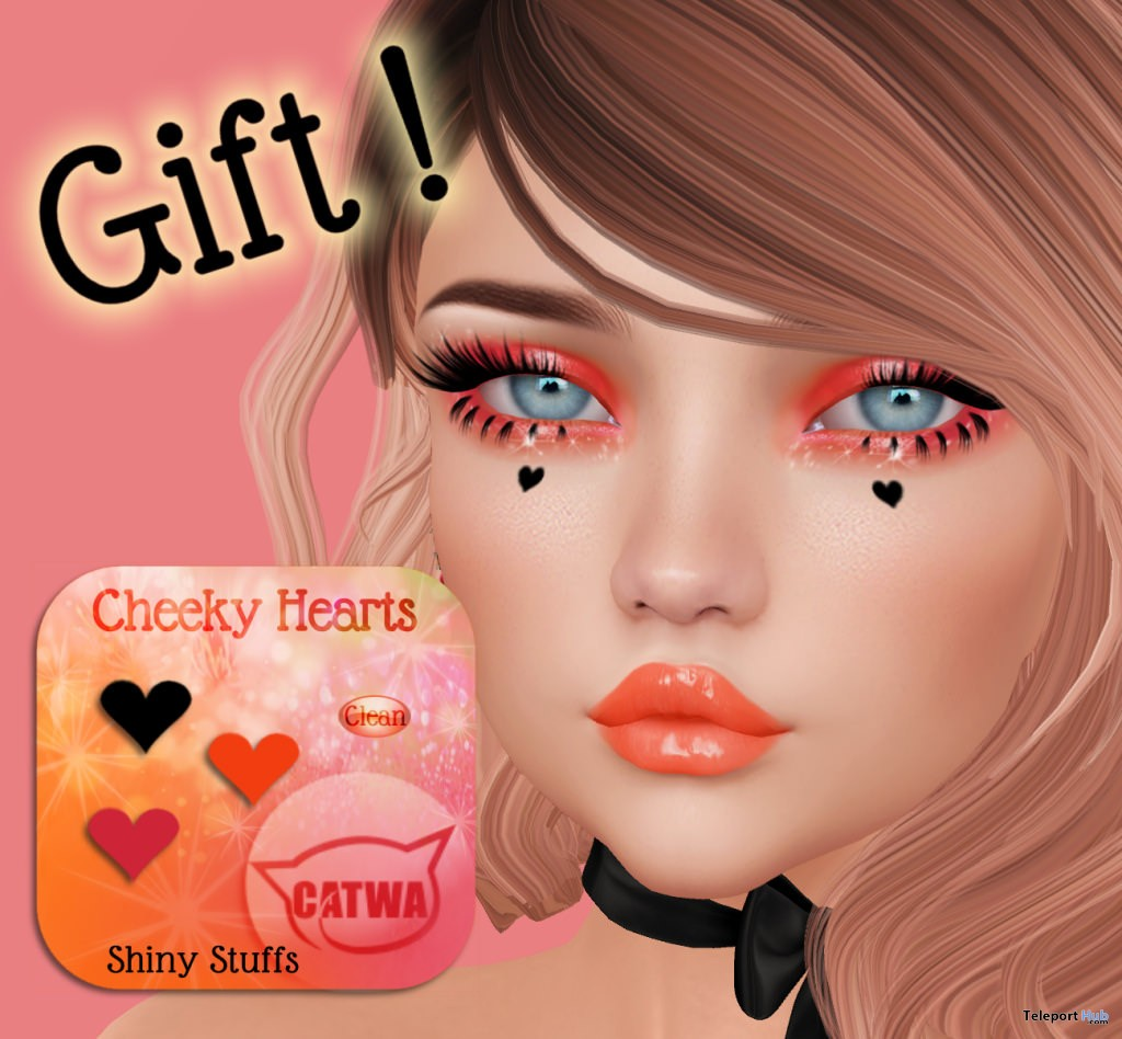 Cheeky Hearts Catwa Head Applier Cosmetic Fair October 2017 Group Gift by Shiny Stuff - Teleport Hub - teleporthub.com
