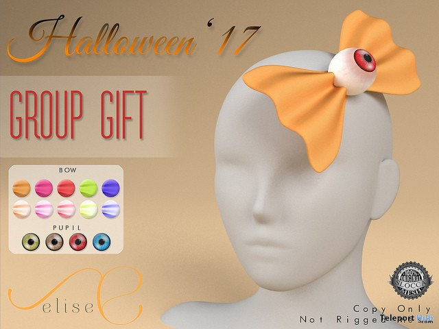 Eye Bows Halloween 2017 Group Gift by elise - Teleport Hub - teleporthub.com