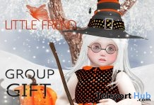 Halloween Dress October 2017 Group Gift by Little Friend Clothes - Teleport Hub - teleporthub.com