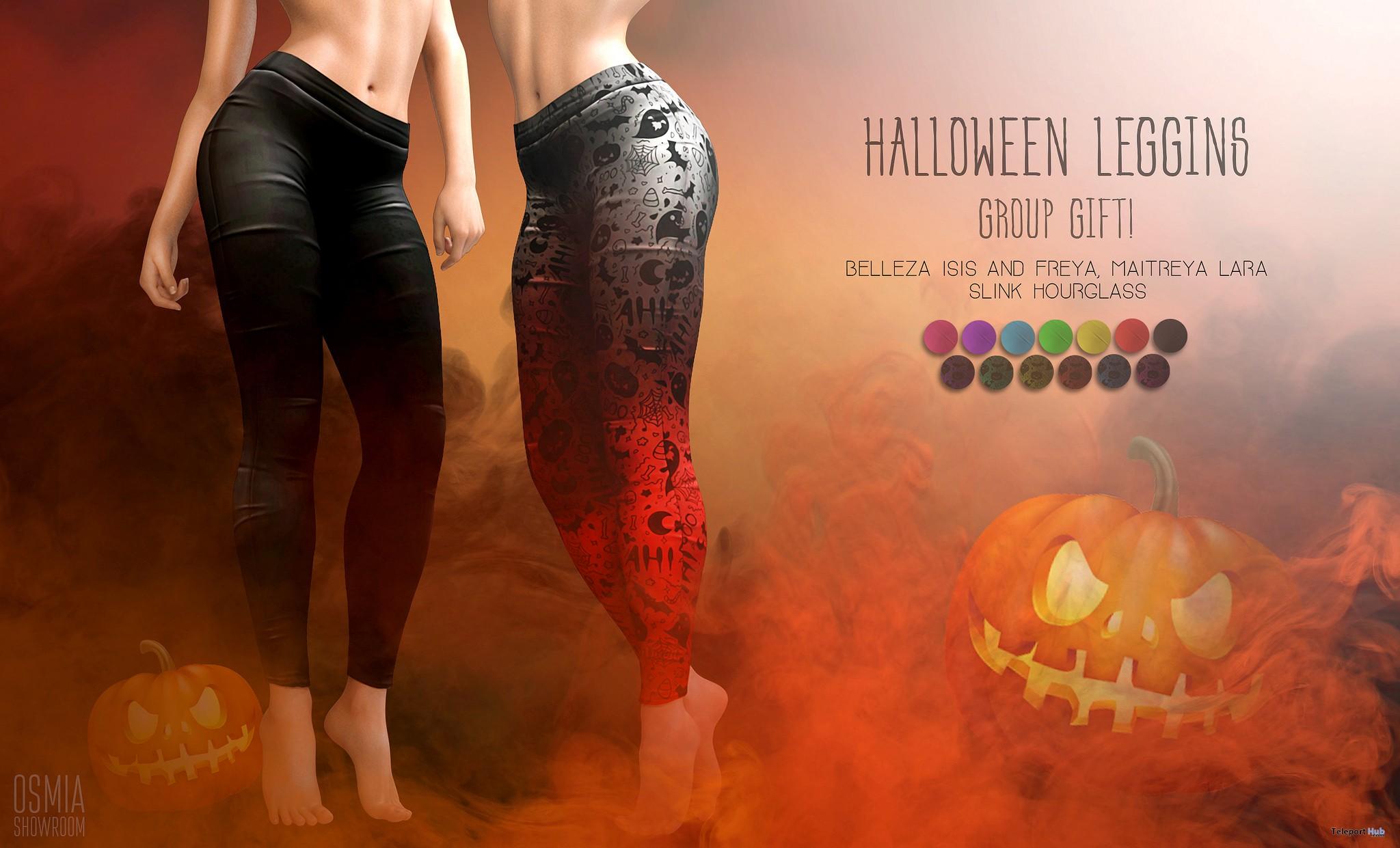 Halloween Leggings Fatpack October 2017 Group Gift by OSMIA - Teleport Hub - teleporthub.com