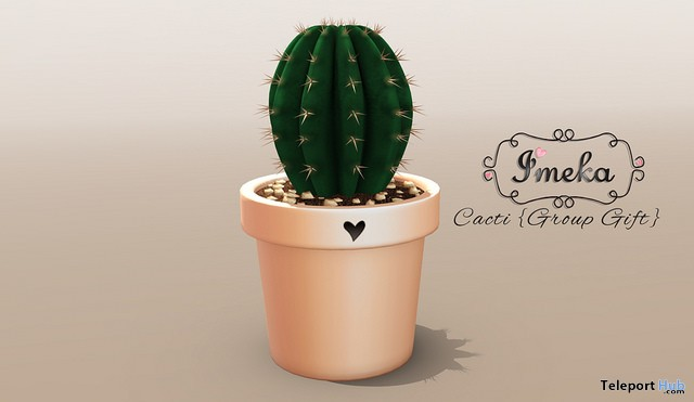 Cacti October 2017 Group Gift by Imeka - Teleport Hub - teleporthub.com