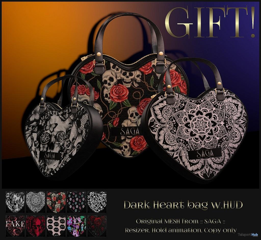 Dark Style Heart Bag October 2017 Group Gift by SAGA - Teleport Hub - teleporthub.com