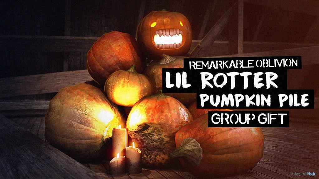 Lil Rotter Pumpkin Pile October 2017 Group Gift by Remarkable Oblivion - Teleport Hub - teleporthub.com