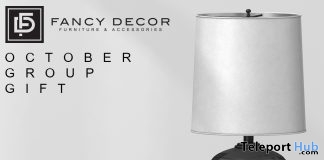 Small Lamp October 2017 Group Gift by Fancy Decor - Teleport Hub - teleporthub.com