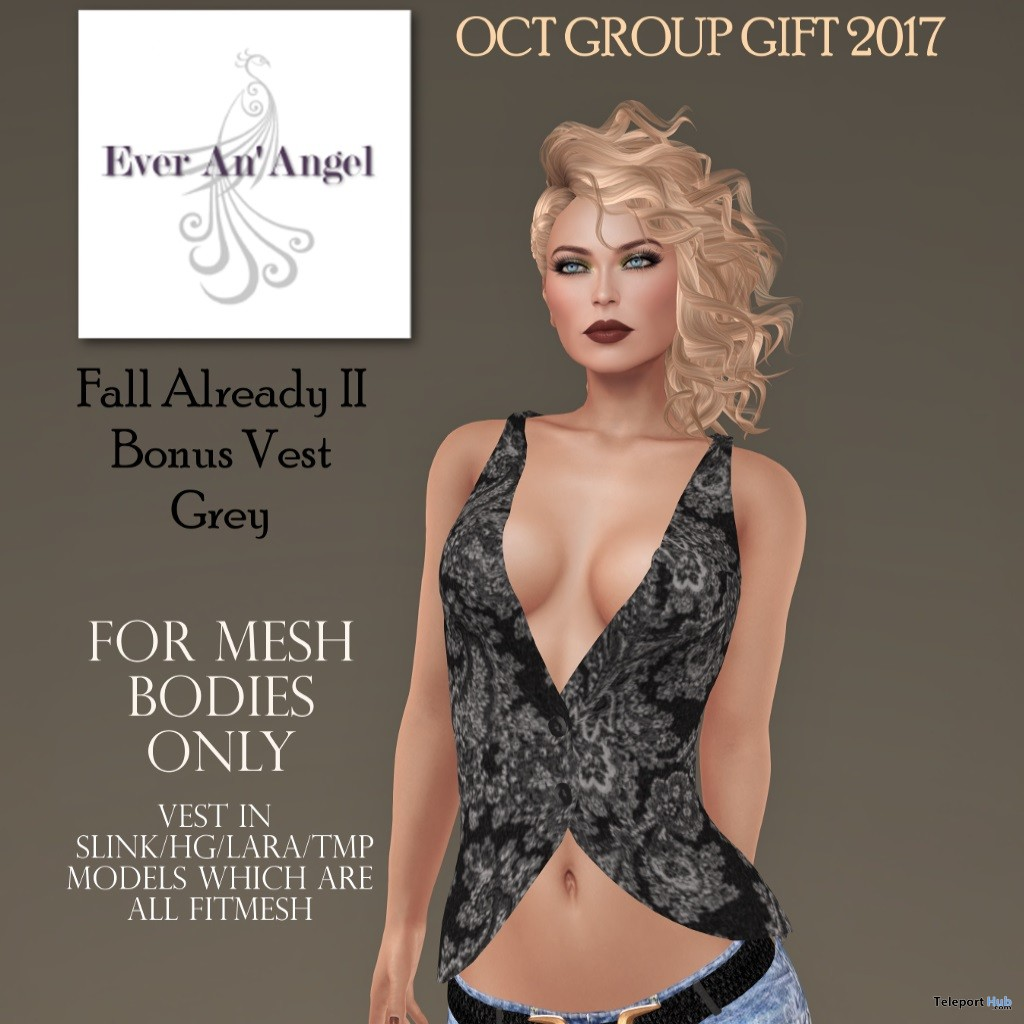 Fall Already II Vest October 2017 Group Gift by Ever An' Angel - Teleport Hub - teleporthub.com