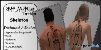 Skeleton Back Tattoo Unisex October 2017 Group Gift by BH MaRket - Teleport Hub - teleporthub.com