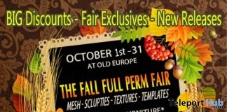 The Fall Full Perm Fair at Old Europe 2017 - Teleport Hub - teleporthub.com