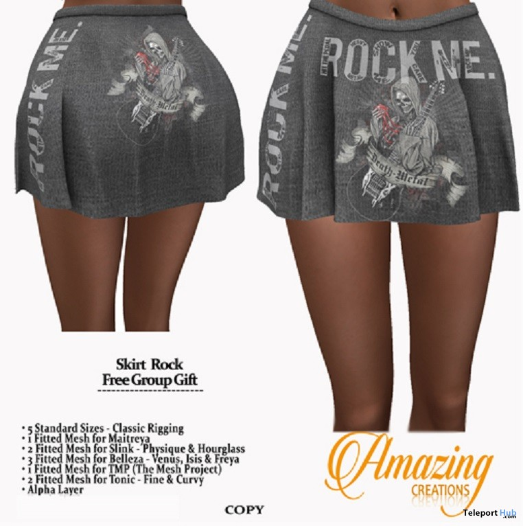 Skirt Rock October 2017 Group Gift by AmAzIng CrEaTiOnS - Teleport Hub - teleporthub.com