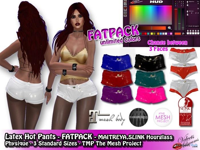 Hot Pants Latex Fatpack 99L Promo by Velvets Dreams - Teleport Hub - teleporthub.com