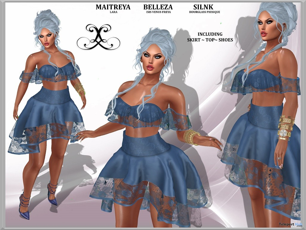 Paloma Outfit October 2017 Group Gift by Le'La Design - Teleport Hub - teleporthub.com