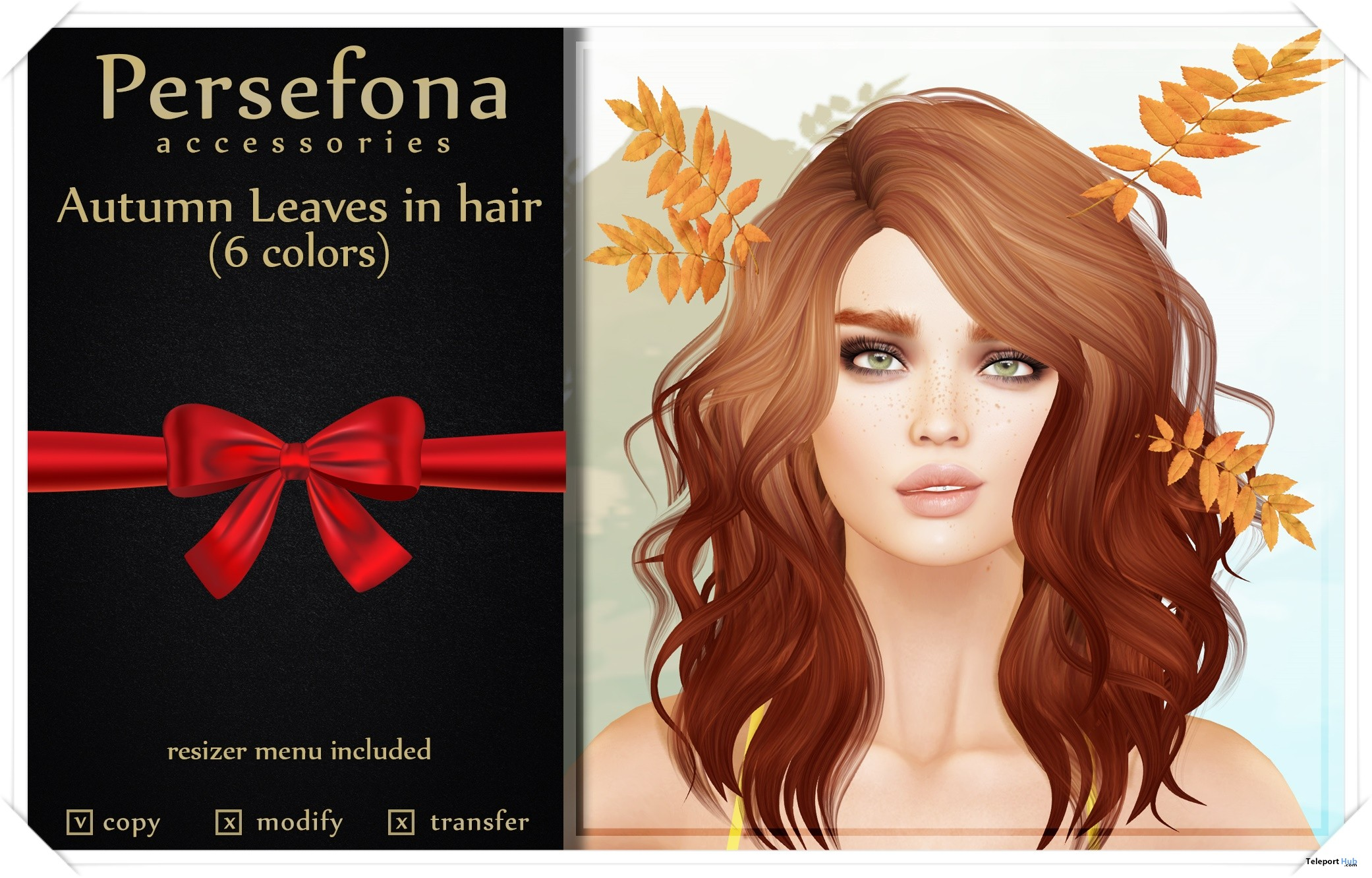 Autumn Leaves In Hair October 2017 Gift by Persefona - Teleport Hub - teleporthub.com