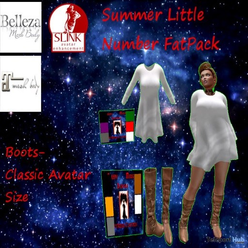 Summer Little Number Dress Top & Boots Group Gift by Creepy Midget Design - Teleport Hub - teleporthub.com