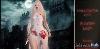 Bloody Lady Outfit October 2017 Group Gift by NyDesign - Teleport Hub - teleporthub.com