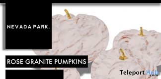 Rose Granite Pumpkins October 2017 Group Gift by NEVADA PARK - Teleport Hub - teleporthub.com