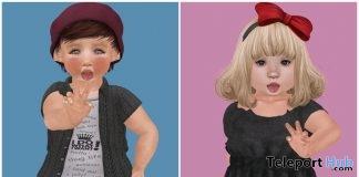 Baby Boy & Girl Bento Pose 1L Promo Gift by BIBI - Teleport Hub - teleporthub.com