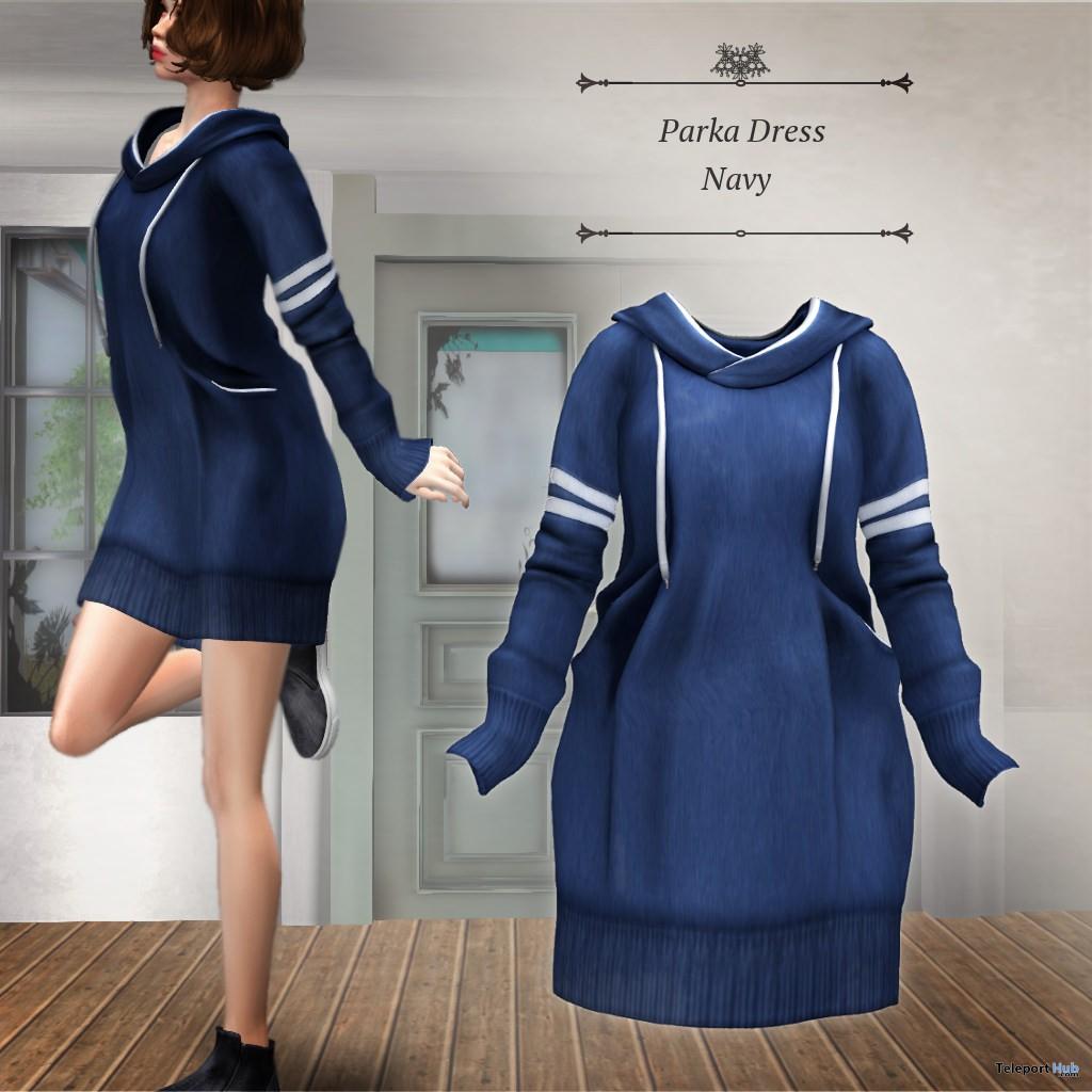 Parka Dress Navy November 2017 Group Gift by S@BBiA - Teleport Hub - teleporthub.com
