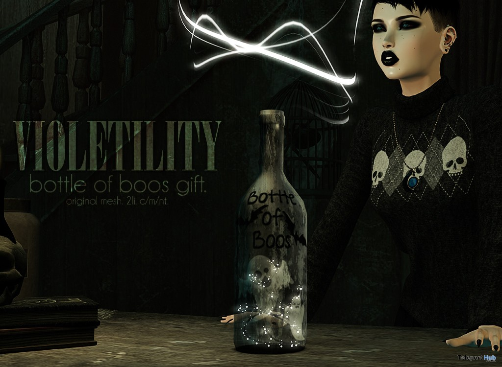 Bottle of Boos Halloween 2017 Group Gift by Violetility - Teleport Hub - teleporthub.com