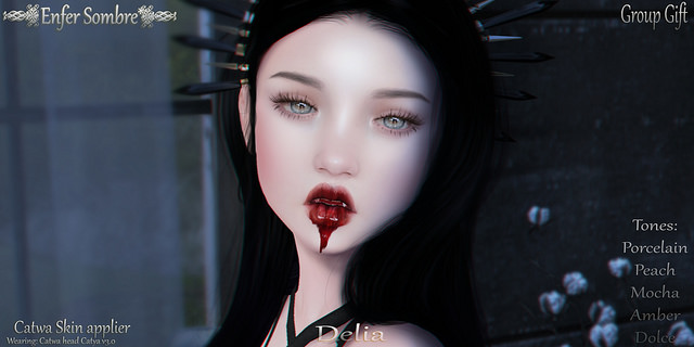 Delia Skin Halloween 2017 Group Gift by Enfer Sombre - Teleport Hub - teleporthub.com