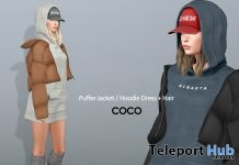 New Release: Puffer Jacket & Hoodie Dress With Hair by COCO Designs @ FaMESHed November 2017 - Teleport Hub - teleporthub.com