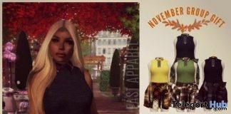 Fall Dress & Turkey Bag November 2017 Group Gift by Sevyn East - Teleport Hub - teleporthub.com