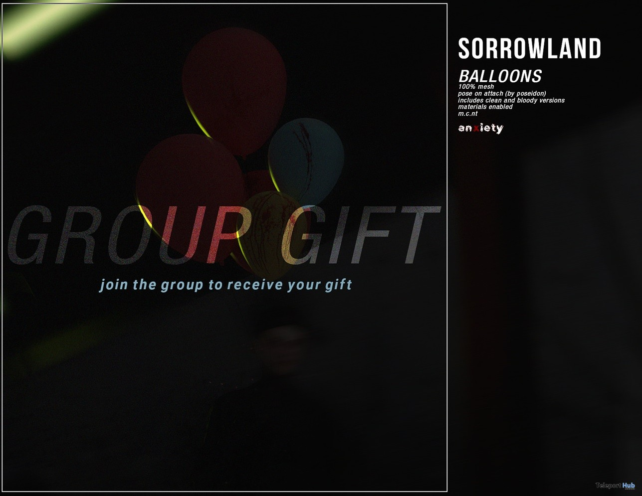 Sorrowland Balloons Group Gift by %anxiety - Teleport Hub - teleporthub.com