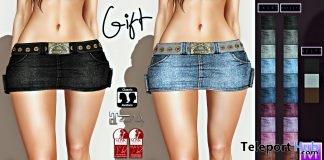 Denim Skirt with Belt 1L Promo Gift by Millenaire - Teleport Hub - teleporthub.com