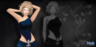 One Shoulder Gown November 2017 Group Gift by AZUL - Teleport Hub - teleporthub.com