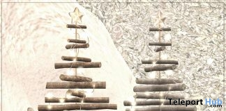 X-mas Wooden Tree December 2017 Group Gift by VIBES - Teleport Hub - teleporthub.com
